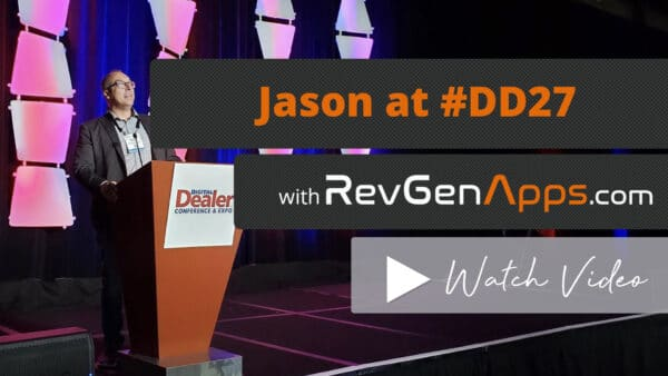 CEO RevGenApps.com Jason Bekiaris speaking at Digital Dealer 27 Conference
